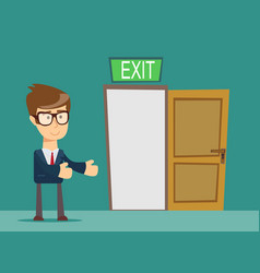businessman person and a open door vector image