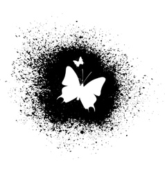 Butterfly silhouette vector image vector image