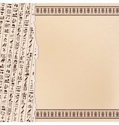 Egyptian ornaments and hieroglyphs vector image vector image
