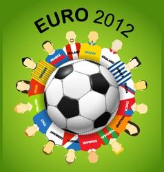 Euro teams vector image vector image