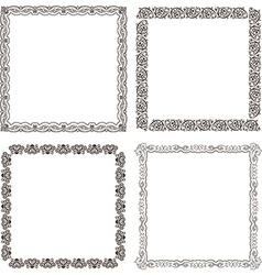 Frames set ornate and vintage design vector