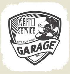 garage prep for paint vector image vector image
