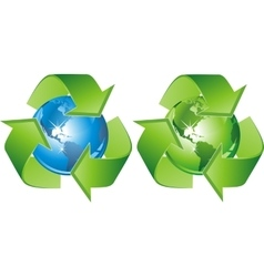 green blue-recycling-signs vector image