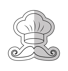 Hat chef uniform isolated icon vector
