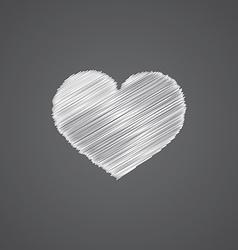 heart sketch logo doodle icon vector image