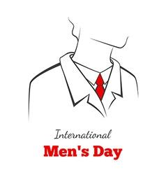 International mans day vector image