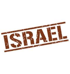 Israel brown square stamp vector