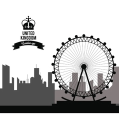 london eye icon United kingdom design vector image vector image