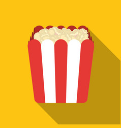 popcorn icon in flat style isolated on white vector image
