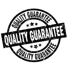 quality guarantee round grunge black stamp vector image vector image