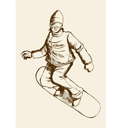 Snowboarder vector image