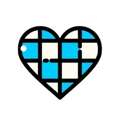 Thin line Oktoberfest Heart vector image
