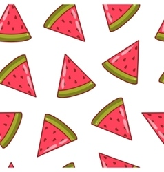 Watermelon slices seamless pattern vector image vector image