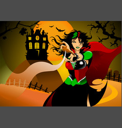 witchcraft vector image vector image