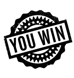 You win rubber stamp vector