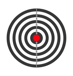 Shooting target icon isolated on white background vector