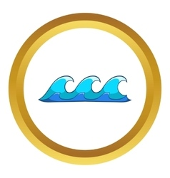 Small waves icon vector