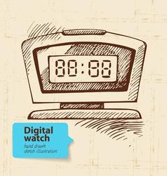 Vintage digital watch vector image