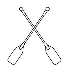 Boat oars icon imag vector
