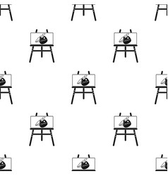 Easel with picture icon in black style isolated on vector