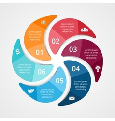 Circle infographic template for diagram graph vector