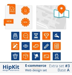 E-commerce web design elements extra set 3 vector