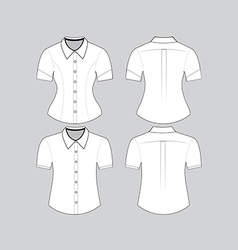 Blank shirt with short sleeves template vector