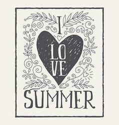 I love summer print t-shirt ink vector