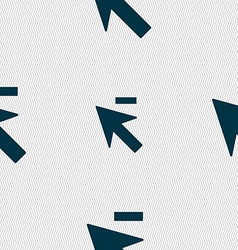 Cursor arrow minus icon sign seamless abstract vector