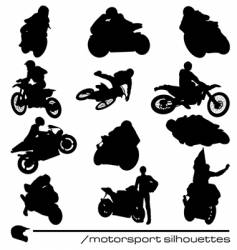 Motorbike silhouettes vector