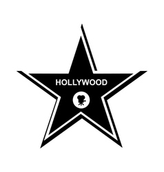 Hollywood star icon simple style vector