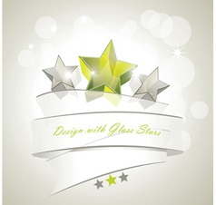 Glass stars vector