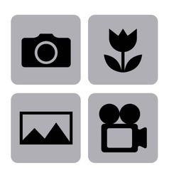 Settings camera design vector