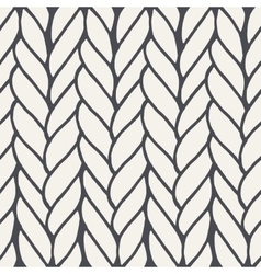Decorative knitting braids seamless pattern vector