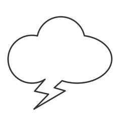 Cloudlike conversation bubble icon vector