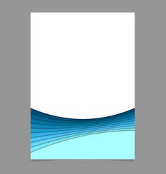 Abstract brochure template from curves - vector