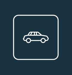 auto outline symbol premium quality isolated car vector image