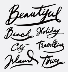 Beautiful and holiday hand written typography vector