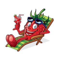 Berry on beach chair vector