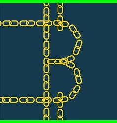 block chain bitcoin vector image vector image