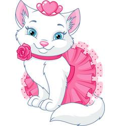 cat princess vector image