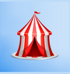 circus tent on blue vector image