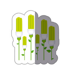 Color sticker silhouette with set of fluorescent vector
