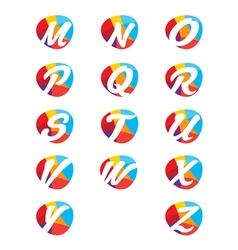Colorful alphabet letters vector