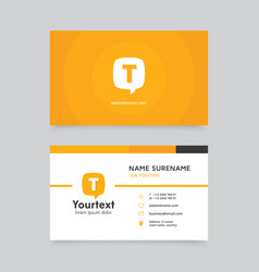 creative business card with communication symbol vector image vector image