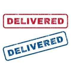 Delivered rubber stamps vector