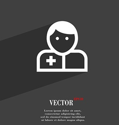 Doctor icon symbol Flat modern web design with vector image