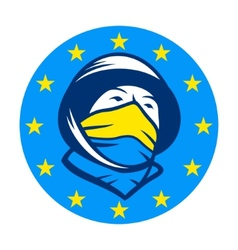 Fighting for joining eu sign vector