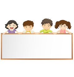 Frame template with many children vector image