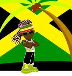 Jamaican gangster vector